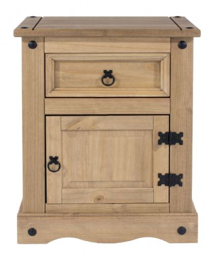 Premium Corona 1 Door / 1 Drawer Bedside